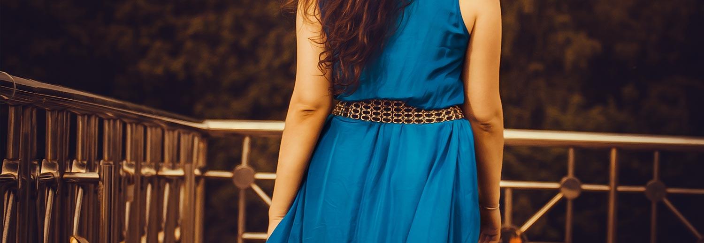 Ballkleid Blau