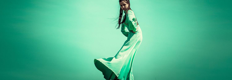 Ballkleid Grün