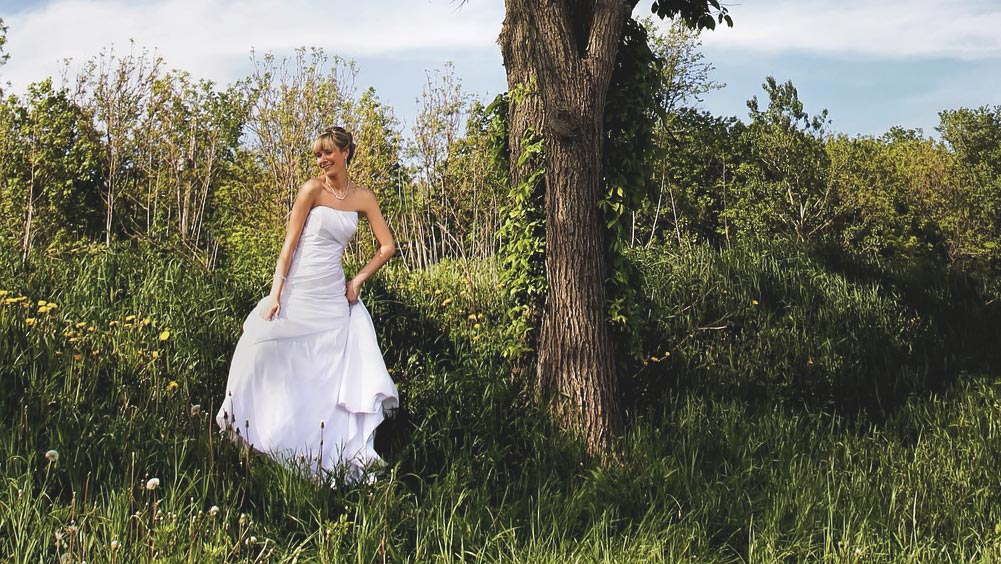 Hochzeitskleid Schlicht